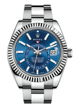 Rolex Stainless Steel Sky Dweller 326934 Blue