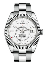 Rolex Stainless Steel Sky Dweller 326934 White