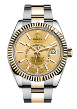 Rolex Stainless Steel and Yellow Gold Sky Dweller 326933C
