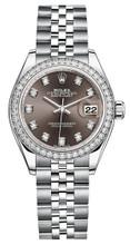 Rolex Lady Datejust 28mm Diamond Bezel Stainless Steel 279384BDDJ