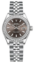 Rolex Lady Datejust 28mm Diamond Bezel Stainless Steel 279384BIDJ