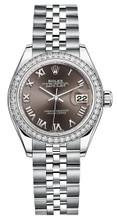 Rolex Lady Datejust 28mm Diamond Bezel Stainless Steel 279384BRDJ