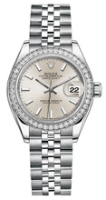 Rolex Lady Datejust 28mm Diamond Bezel Stainless Steel 279384SIDJ