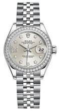 Rolex Lady Datejust 28mm Diamond Bezel Stainless Steel 279384SRDDJ