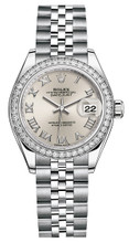 Rolex Lady Datejust 28mm Diamond Bezel Stainless Steel 279384SRDJ