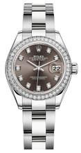 Rolex Lady Datejust 28mm Diamond Bezel Stainless Steel 279384BDDO