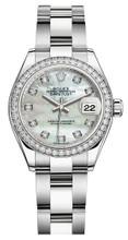 Rolex Lady Datejust 28mm Diamond Bezel Stainless Steel 279384MOPDDO