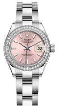 Rolex Lady Datejust 28mm Diamond Bezel Stainless Steel 279384PIDO