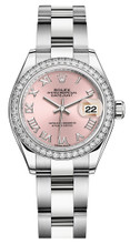 Rolex Lady Datejust 28mm Diamond Bezel Stainless Steel 279384PRDO