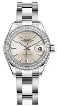 Rolex Lady Datejust 28mm Diamond Bezel Stainless Steel 279384SIDO