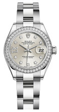 Rolex Lady Datejust 28mm Diamond Bezel Stainless Steel 279384SRDDO