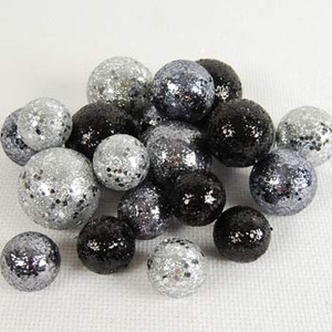 """11"""" x 4.5"""" canister of haunted loose berries gray/black"""