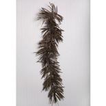 Brown Twister Grass Glitter Garland (5')