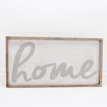 25x14x1.5 frmd sign (HOME) wh/gr