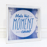 12x12x1.5 wood shdw bx sign (MOMENT) wh/bl