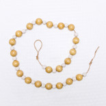 32x1 wood bead garland varied wh/cr