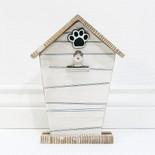 8x10.5x1.5 wd pet house photo holder wh/bk