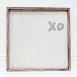 20x20x1.5 frmd sign (XO) wh/gr