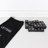 10x12.5x.25 bag 70 pcs 1.5x1.75x.25 (LETTERS) bk/wh