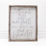 13x16x1.5 frmd sign (IF YOU THNK) wh/gr