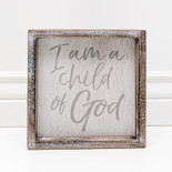 8x8x1.5 frmd sign (CHLD OF GOD) wh/gr
