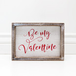 9x6.5x1.5 wood frmd sign (VALENTINES) wh/rd