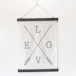 24x33x1 wood canvas chart (LOVE) wh/gy