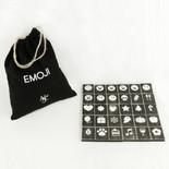 8.75x11x1.25 bag 30 pcs 1.5x1.75x.25 (EMOJI) bk/wh