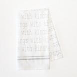 24x17 tea towel (THNGS KNDNSS) wh/bk