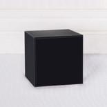 4x4x4 blank block black