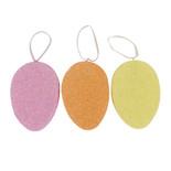 5x3.5 styrofoam eggs   s/6 ornament multi color