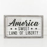 15.75x9.25x1.5 wood frmd sign (LIBERTY) wh/bk/gy