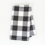 17x24 hand towel (BFL CHK) bk/wh