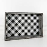 17x11.5x3 wd tray (BFL CHK) bk/wh