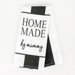 15x24 dish towel (HM MMY) wh/bk