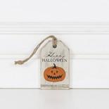 2x3.25x.25 wood tag (HPY HLWN) wh/bk/or