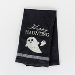 24x17 tea towel (HPY HNTG) bk/wh