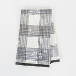 24x17 tea towel (PLAID) wh/bk