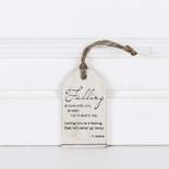 2x3.25x.25 wood tag (FALLING) wh/bn/tn
