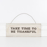 12x4.5x.25 hanging wood sign (TIME) multi
