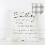 16x16x4 canvas pillow (FALLING) wh/bn/tn/gy