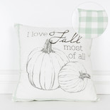 16x16x4 canvas pillow (FALL) wh/bn/gn/gy