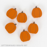 1.5x1.75x.25 wood shape tiles s/6 (PUMPKINS) or/bn