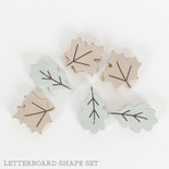 1x2x.25 wood shape tiles s/6 (LEAVES) multi