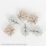 1x2x.25 wood shape tiles s/6 (LEAVES) multi