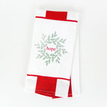 15x24 dish towel (HOPE) wh/rd
