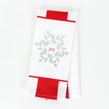 15x24 dish towel (JOY) wh/rd