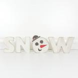 20.5x5.5x1 wood cutout w/snowman (SNOW) multi
