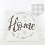 16x16x4 canvas pillow (HM HLDYS) wh/gy/bn