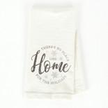 24x17 tea towel (HM HLDYS) wh/gy/bn